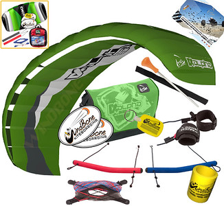 HQ Alpha Power Foil Kite Traction Buggy Kiteboarding Beginner Friendly