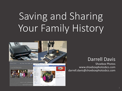 Saving and Sharing Your Family History