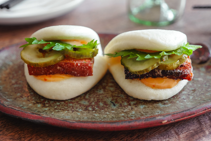 Crisp Pork Belly Steamed Bun