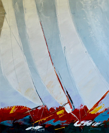 Racing the Wind-Burrows, 34x48 oil on canvas