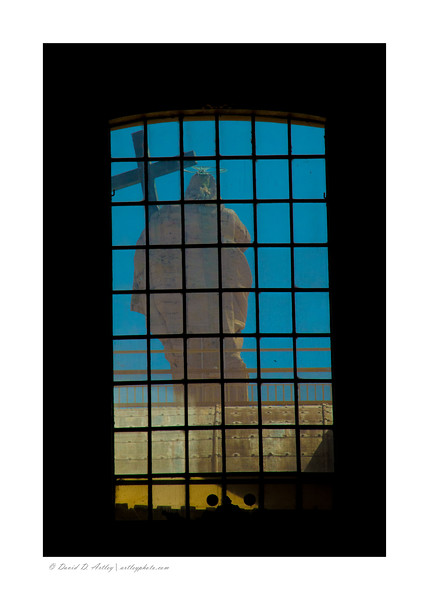 Statue of Christ the Redeemer from inside St. Peter's Basilica