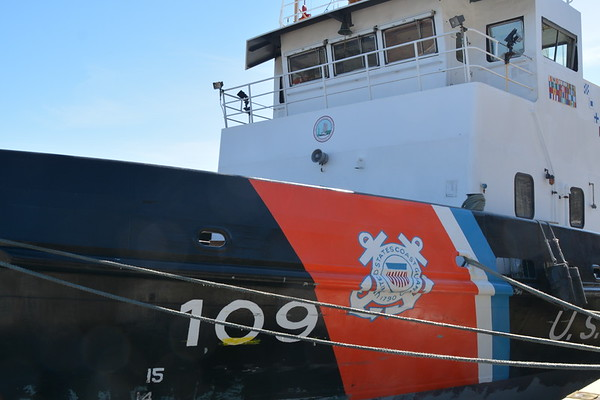 USCG Ice cutter at West Point Landing   the b 3/19/15