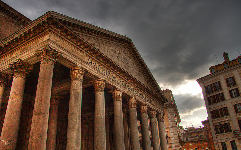 Ominous Skies and the Pantheon (HDR Image)