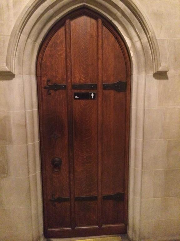 2014 DC National Cathedral bathroom door