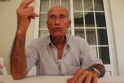 "Francisco ""Barbeiro"" Joaquim Machado (Lajes do Pico, Pico), born 1918, pictured at his family's home in Madalena, Pico. August 7, 2012."