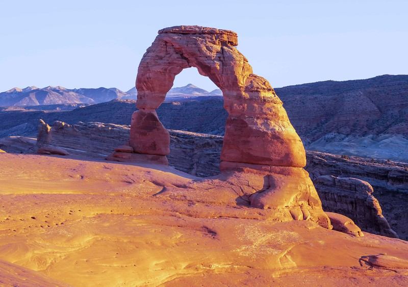 Delicate Arch without tourists