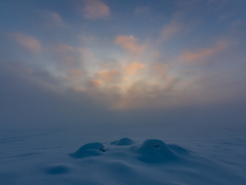 The mystery of the winter sunset