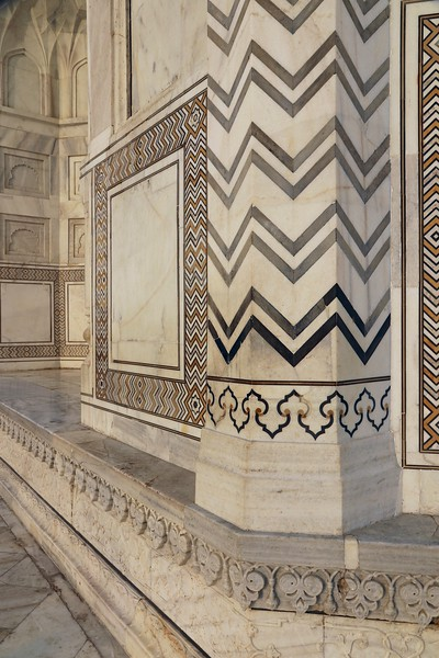 Herringbone inlays of the Taj Mahal
