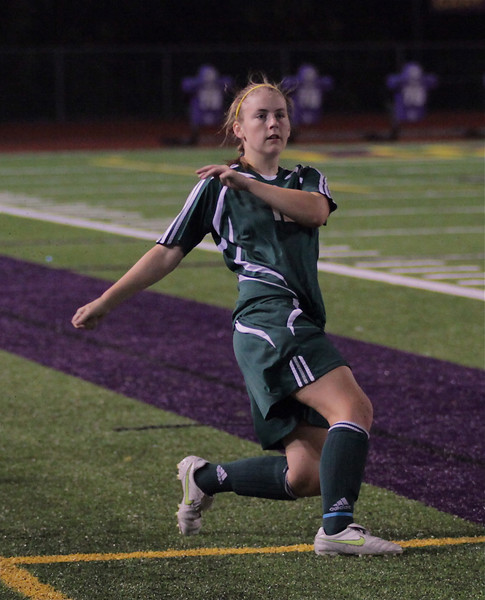Brittany Greenback Woodinville High Girls Varsity Soccer verse Issaquah High October 6, 2011   ©Neir