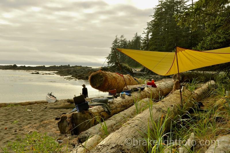 Campsite north of Raft Cove