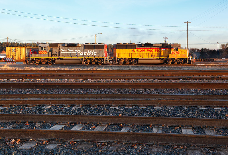 Union Pacific 2070 and Southern Pacific 2050 (EMD GP60's) - Altoona Yard