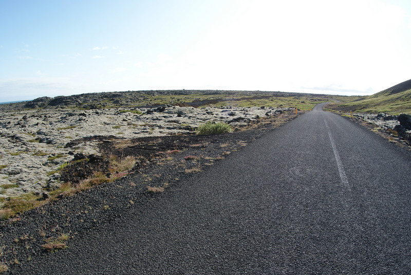 On to our fifth stop - lava tube.  The countryside turn even more tundra-ish.