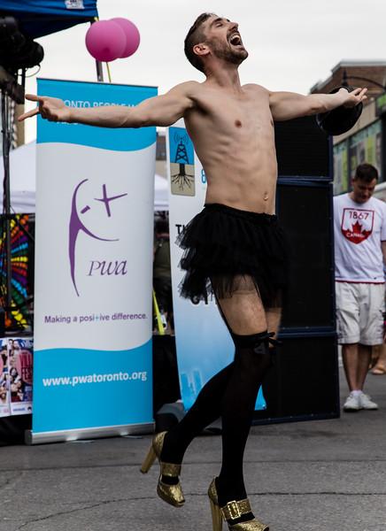 High Heel Strut 2017 - Contestant Dance-off: David