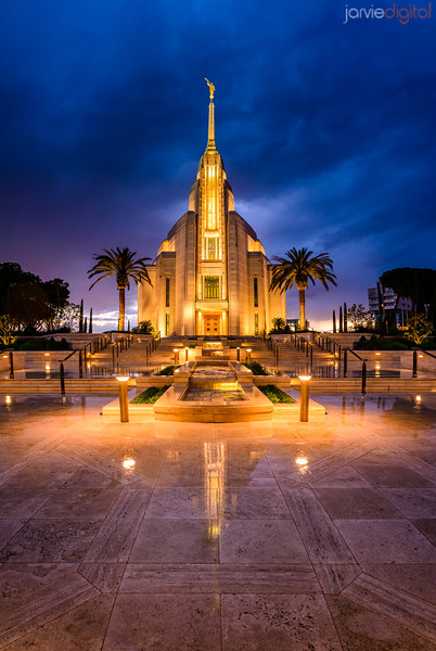 Rome Temple - Stormy Evening
