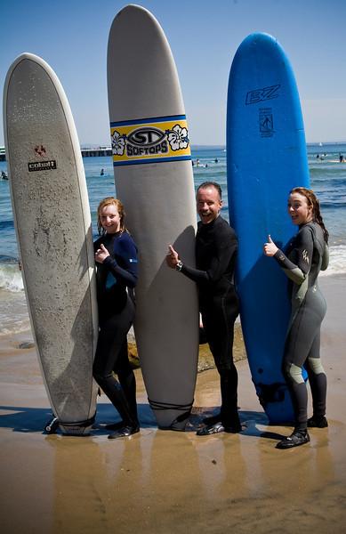 Surfing at Santa Cruz - 4.12.08