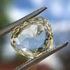 3.46ct Portrait Rose Cut Trapezoid Diamond GIA UV VVS2 23