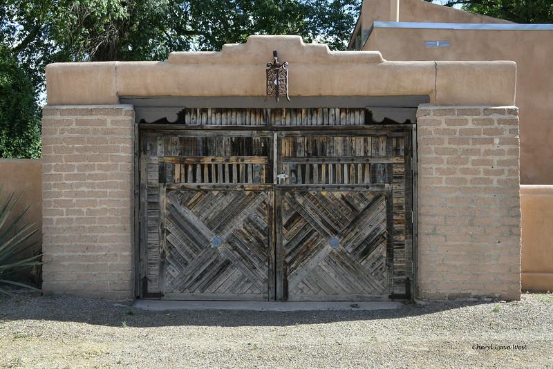 Cerrillos, New Mexico - Elaborate wooden doors