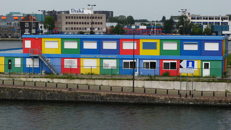 Modern Amsterdam city-scape.