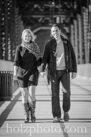 Amy & Rich B/W Engagement Photos