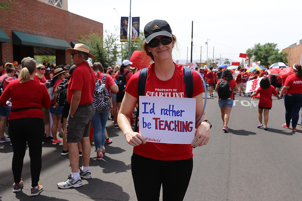 Red For Ed Teacher Walk Out