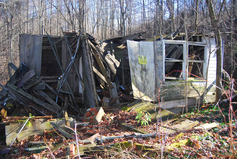 This is the remains of the old Friend homestead that my Grandpa 'Pap' Friend built in the countryside outside of Tunnelton