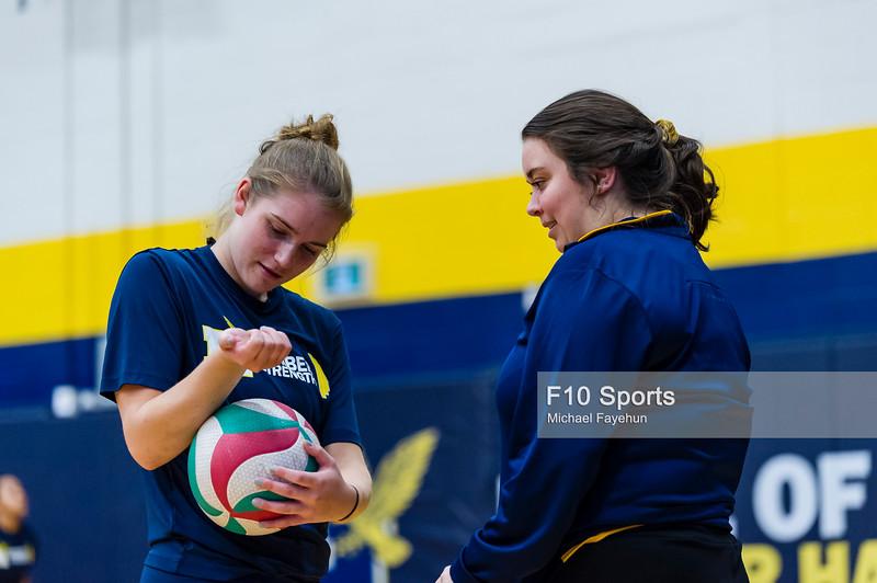 TORONTO, CANADA - Dec 29: during 2018 Humber Classic Women's Volleyball Invitational Match between Humber vs NIP at Humber Hawks Athletics Gym. Photo: Michael Fayehun/F10 Sports Photography
