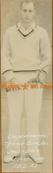 TENNIS Departmental Singles Champions  B. B. A.  H. J. Anderson