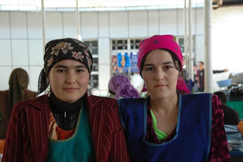 Shah Mansur Bazaar, Women Vendors - Dushanbe, Tajikistan