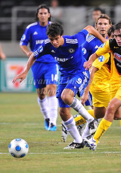 July 26 2009 World Football Challenge - Chelsea FC v Club America: #9 Franco DiSanto of FC in action at the Cowboys Stadium in Arlington, Texas.Chelsa FC beats Club America 2-0.