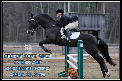 Groton Pony Club Two-Phase Schooling Event, April 13, 2014