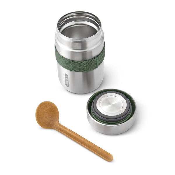 BAM-FFB-S010_Food Flask_open with lid and spoon_Olive.jpg