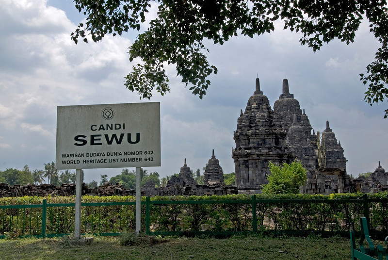 Candi Sewu Temple at Prambanan complex in Java, Indonesia