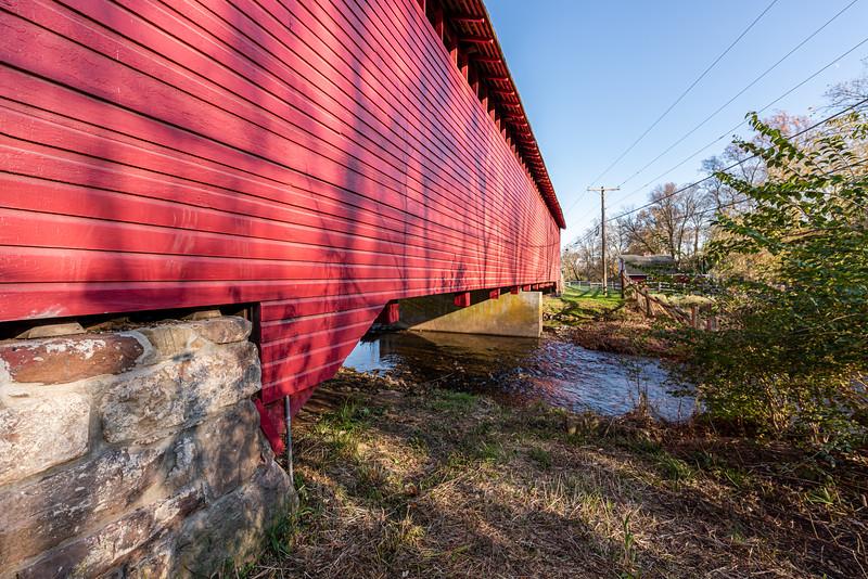 Side Profile of Utica Covered Bridge