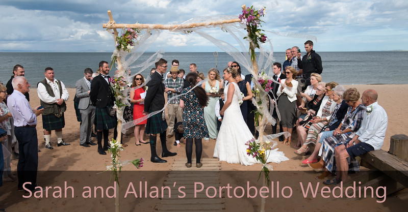 Sarah and Allan's Portobello Beach Wedding