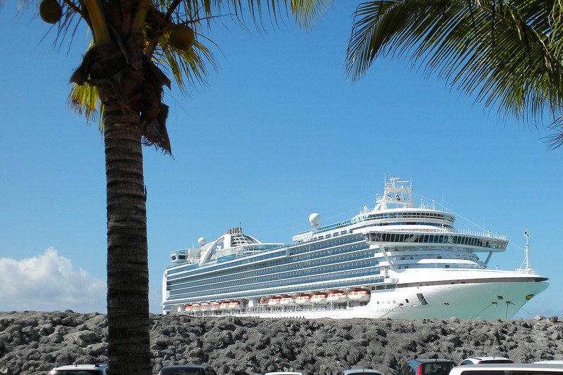 Land view of our ship, the Emerald Princess