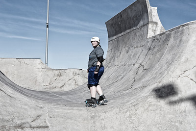 Twisted at the skate park