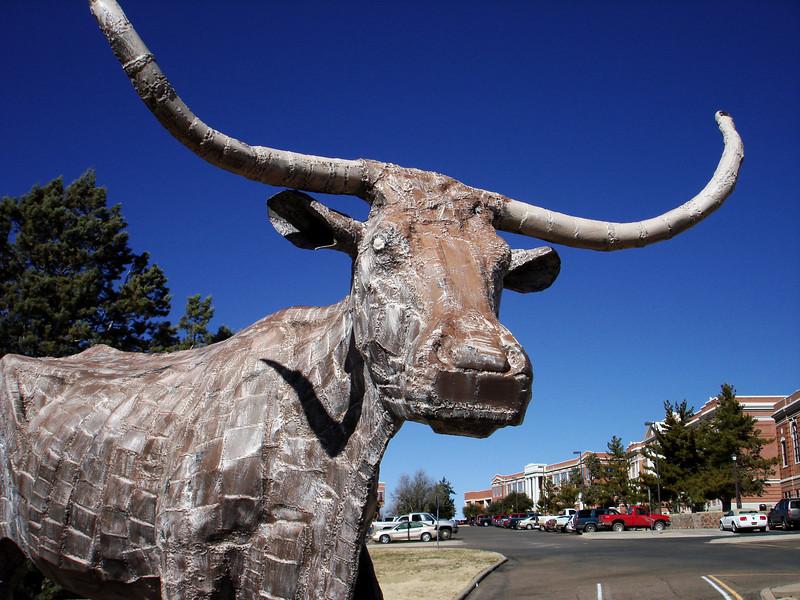 Longhorn Statue