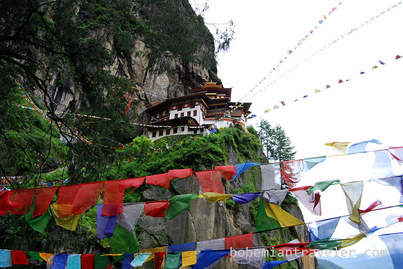 Tigers Nest Monastery and prayer flags.jpg