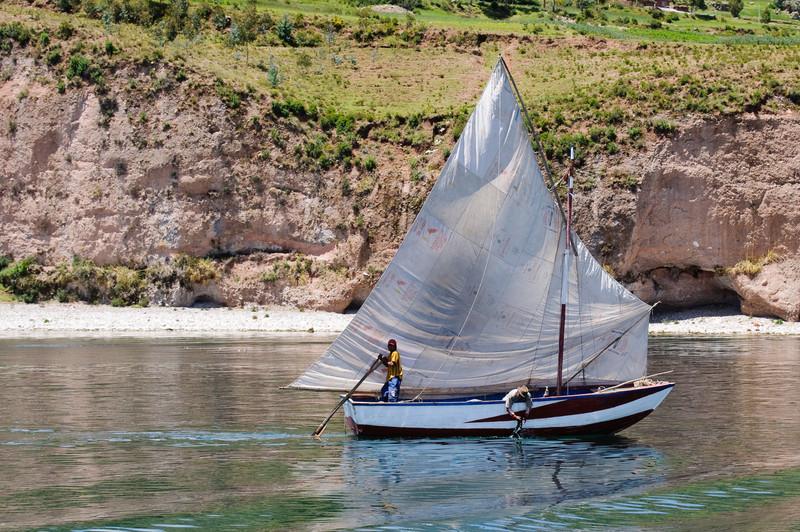 Lake Titicaca Fishing Boat