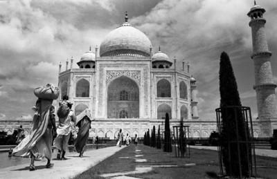 Monsoon skies at the Taj Mahal August 1968