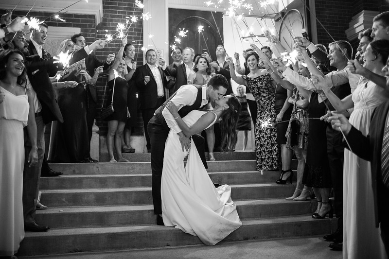 Camille and Nick Wedding BW