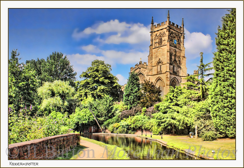 The Cathedral at Kidderminster on the Staffordshire & Worcestershire Canal [just to the left of the picture is a huge car park and shopping centre]