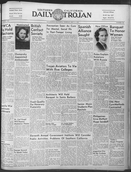 Daily Trojan, Vol. 30, No. 134, May 11, 1939