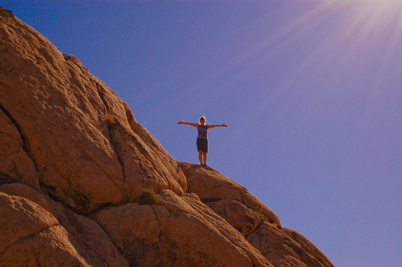 High, on the rocks