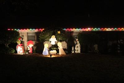 Christmas lit homes in Howe, 12/23/2014