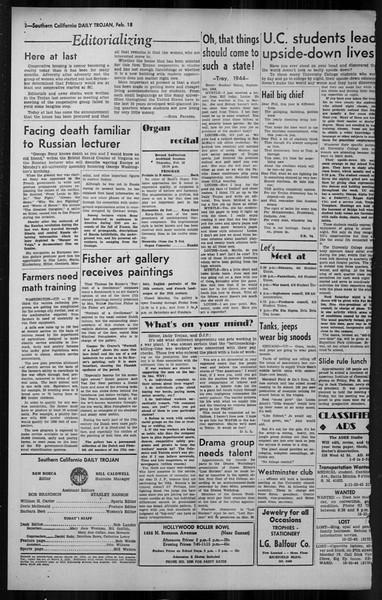 Daily Trojan, Vol. 34, No. 87, February 18, 1943