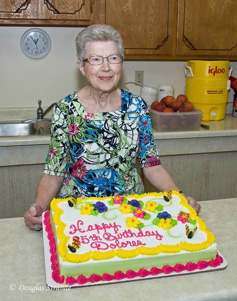2011 Reunion, Dolores with her 86th (not 85th!) birthday cake