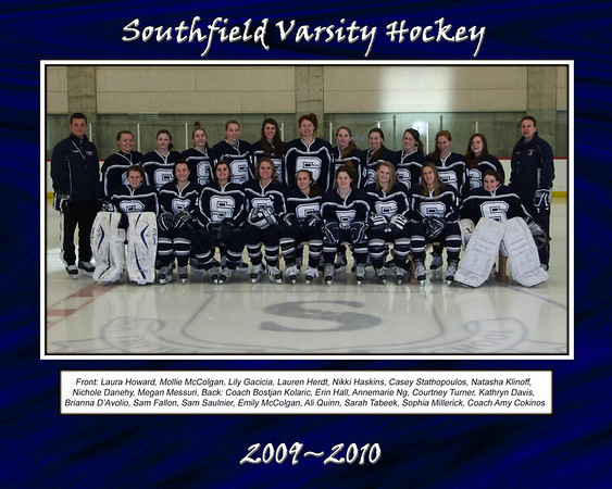 Southfield Team Pictures and Posters 2009-10