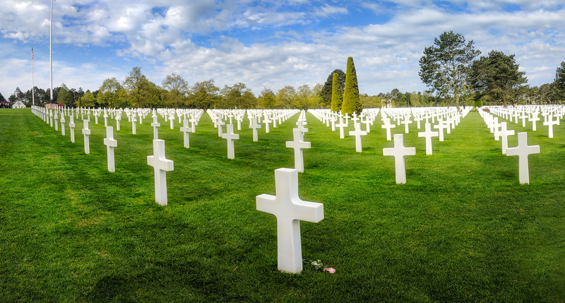 Just before crossing the English Channel, we stopped at the American Cemetery at Omaha Beach. There are about 10,000 crosses here - it is quite moving.  This is a panorama made from 6 different shots from my Pixel phone.