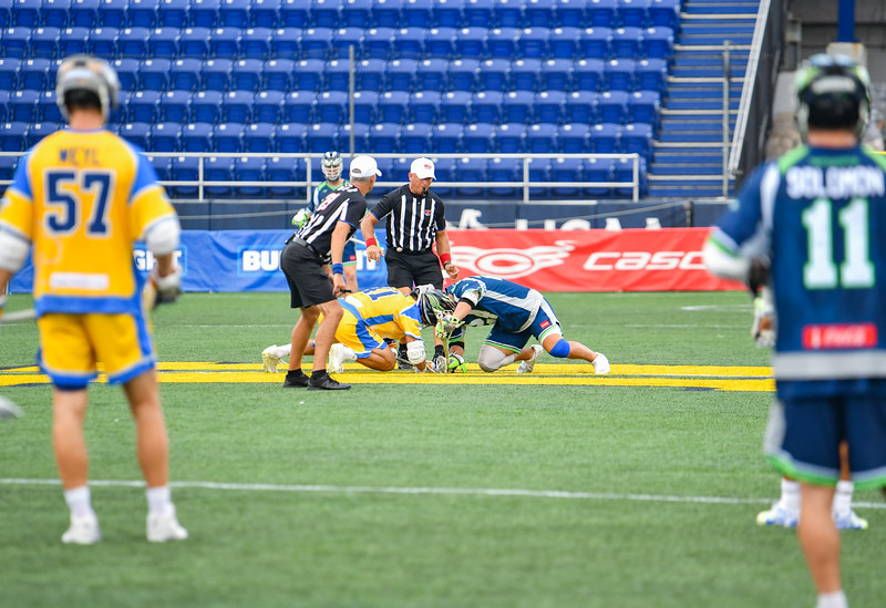 July 24, 2020 Annapolis, MD Navy-Marine Corps Memorial Stadium Chesapeake Bayhawks vs Connecticut Hammerheads. Photography Credit: Alex McIntyre